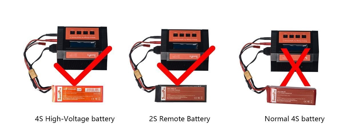 Balance Charger For Splashdrone 3+ New High-Voltage Battery (4s-Lihv)